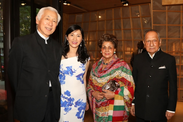 (Left to right) Oscar Tang, Tang Dynasty Ball Co-Chair; Agnes Hsu-Tang, Tang Dynasty Ball Co-Chair; Her Royal Highness Princess Jeet Nabha Khemka; and Nand Khemka.