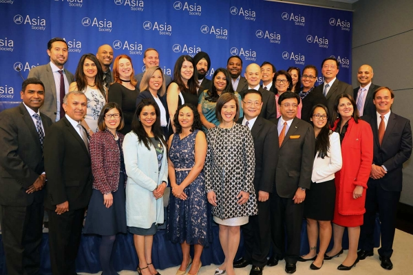 Representatives of companies receiving best employer awards. (Ellen Wallop/Asia Society)
