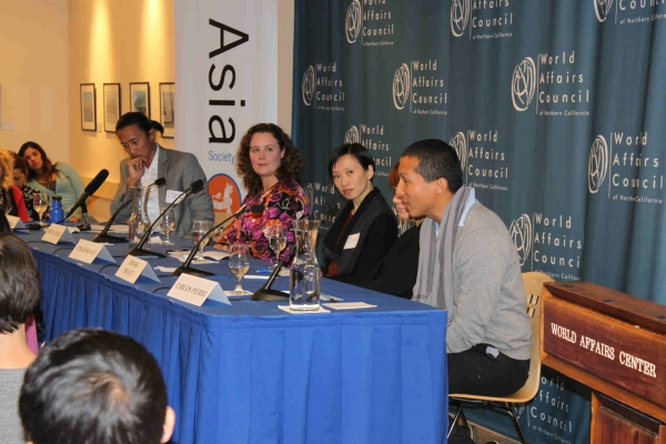 Panelists spoke passionately about their volunteerism in Asia.