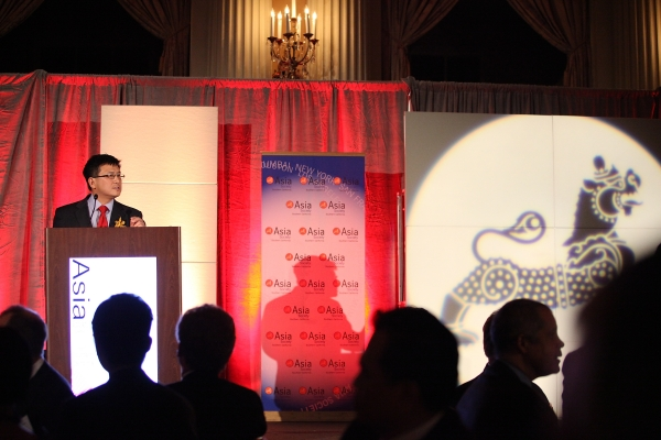 "John Chiang, Controller State of California, honored as ""Asian American Leader of the Year"" speaks during the Asia Society Southern California 2013 Annual Gala held at the Millennium Biltmore Hotel on Tuesday, February 19, 2013 in Los Angeles, Calif. (Photo by Ryan Miller/Capture Imaging)"