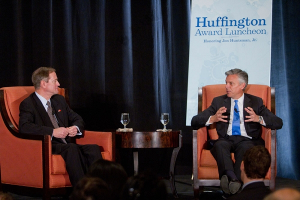 Jon Huntsman draws on his experiences living in Taiwan and China. (Richard Carson)