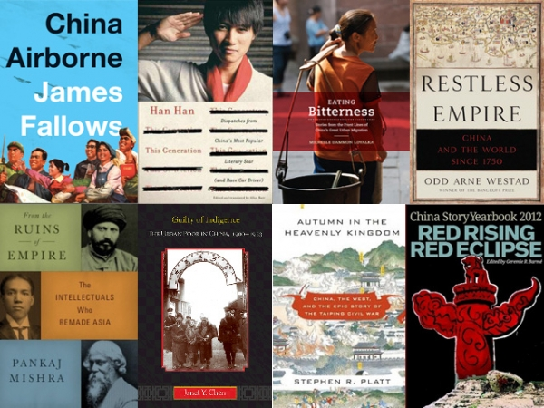 Some of the books on China from 2012 that caught the attention of journalist Ian Johnson and historian Jeffrey Wasserstrom. (Asia Society)