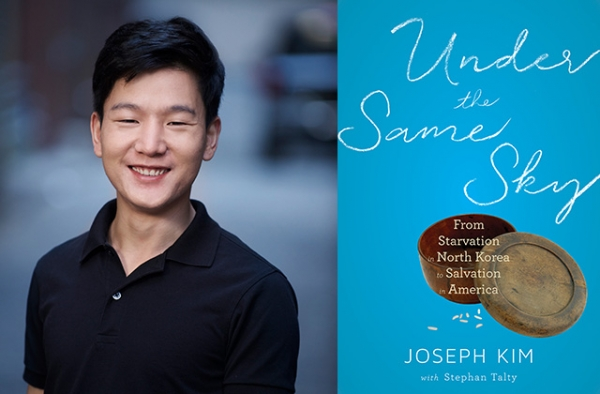 Joseph Kim and his new book 'Under the Same Sky: From Starvation in North Korea to Salvation in America.' (Houghton Mifflin Harcourt)