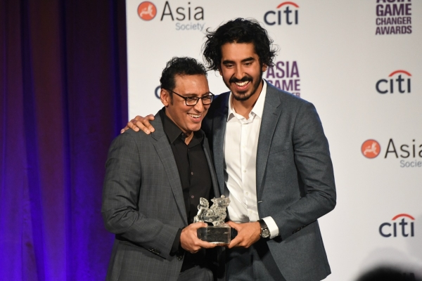 Aasif Mandvi and Dev Patel at the Asia Game Changer Awards