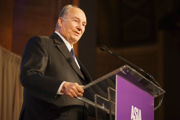 The Aga Khan delivers a speech at the Asia Game Changers