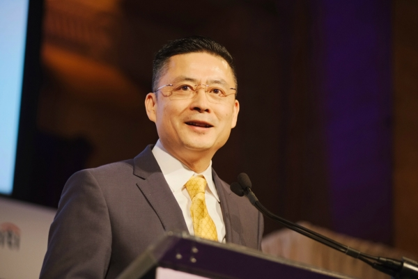 HNA CEO Adam Tan speaks at Asia Game Changers Awards