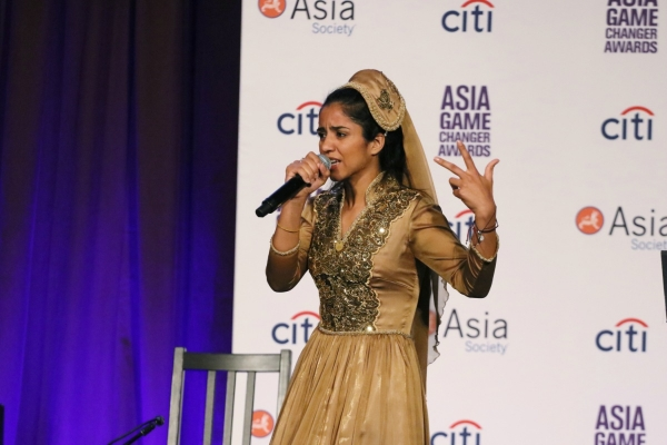 Sonita Alizadeh Raps at the Asia Game Changer Awards