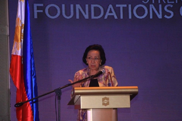 Amb. Delia Albert, Former Secretary of Foreign Affairs, delivers the keynote message.
