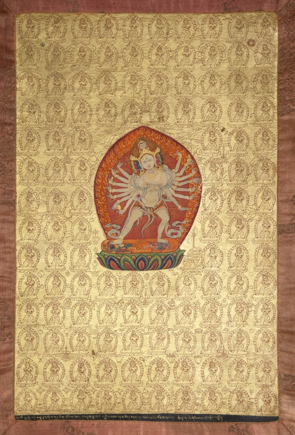 "Heruka. 19th century. U (Central Tibet). Tradition: Gelug. Pigments on cloth. MU-CIV/MAO ""Giuseppe Tucci,"" inv. 937/770. Image courtesy of the Museum of Civilisation/Museum of Oriental Art ""Giuseppe Tucci,"" Rome."