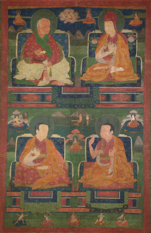 "The Sakya Lamdre Lineage. 16th-17th century. Shalu, Shigatse, Tsang (South-Central Tibet). Tradition: Sakya. Pigments on cloth. MU-CIV/MAO ""Giuseppe Tucci,"" inv. 881/714. Image courtesy of the Museum of Civilisation/Museum of Oriental Art ""Giuseppe Tucci,"" Rome."