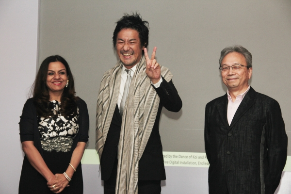 Honoree teamLab accepting the award at 2017 Asia Arts Awards India