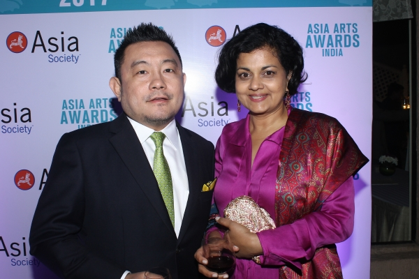 Boon Hui Tan and guest at 2017 Asia Arts Awards India