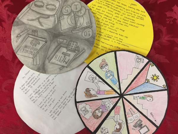 Cultural mandalas created by students
