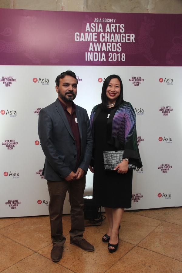 Abir Karmarkar, Asia Arts Future Awardee 2017 & Michelle Yun, Senior Curator at Asia Society Museum