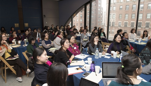Chinese language educators listen to presentations at the 2018 Asia Society Chinese Language Teachers Institute. (Elena Olivo/Asia Society)