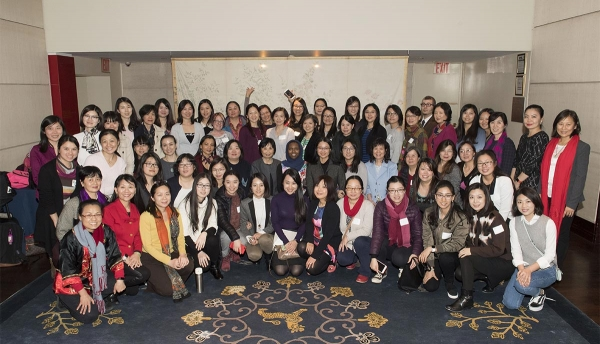 The 2018 Asia Society Chinese Language Teachers Institute's 60 attendees, presenters, and Asia Society staff. (Elena Olivo/Asia Society)