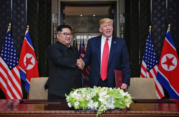 Kim Trump Singapore Summit