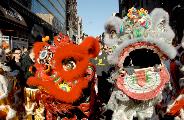 New York Chinatown Freemasons Lion Dancers
