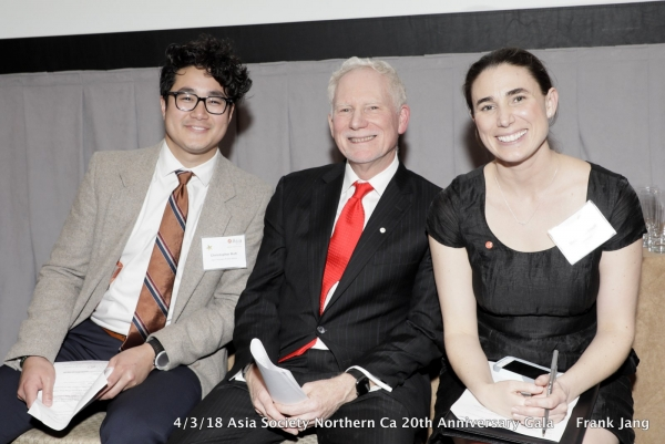 (From left to right) ASNC Young Professionals Group Networking and Outreach Co-Chair Christopher Koh, ASNC Executive Director Bruce Pickering, and ASNC Program Manager Melissa La Bouff (Frank Jang/Asia Society)
