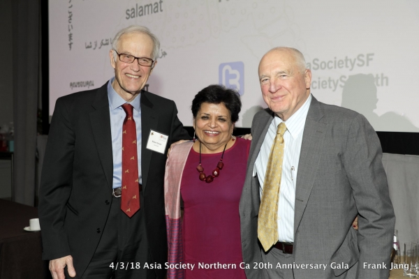 (From left to right) Former Asia Society President Robert Oxnam with Asia Society President Emerita Dr. Vishakha Desai and ASNC Advisory Board Co-Chair, Jack Wadsworth (Frank Jang/Asia Society)