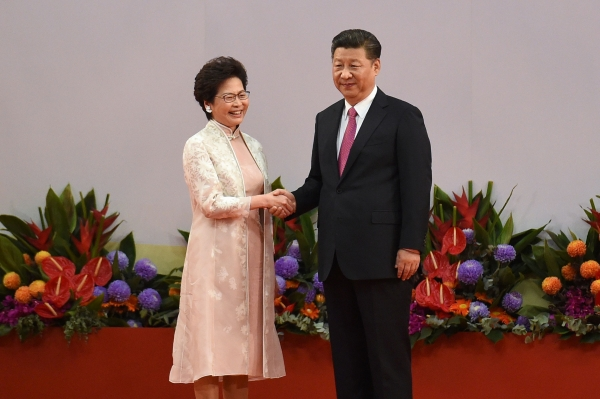 Hong Kong Chief Executive Carrie Lam and Chinese President Xi Jinping