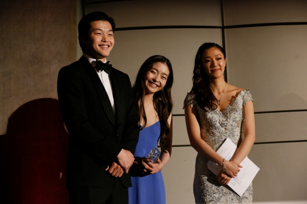Alex Shibutani, Maia Shibutani, and Tiffany Chu