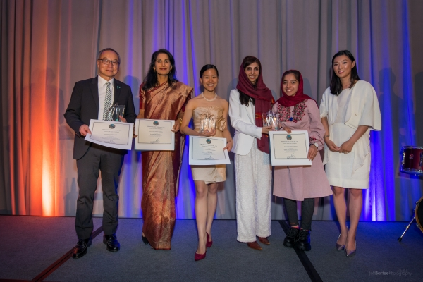 Honorees with Gloria Li