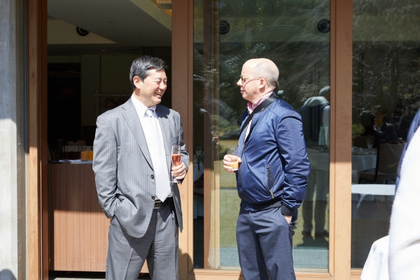 Asia Society Japan Center Founding Member Daniel Fujii and global trustee Duncan Clark