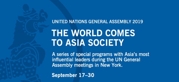 Related United Nations General Assembly events at Asia Society New York in 2019