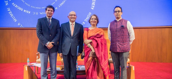 Dr Taimur Baig, Mr Arun Kumar, Ambassador Nirupama Rao, and Mr Arijit Ghosh