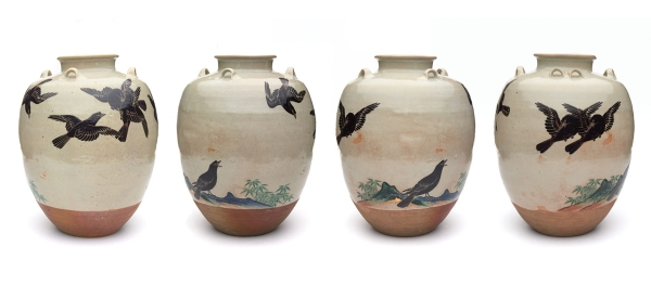 Tea Leaf Jar by Nonomura Ninsei