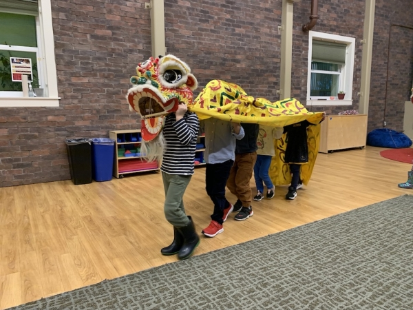 Chinese New Year preschool lion dance