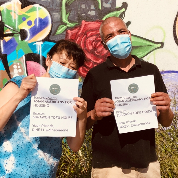Asian Americans for Housing receives mask donation made by Jason Chu
