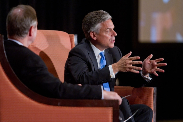 Huntsman emphasizes working with rather than against China. (Richard Carson)
