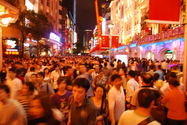 East Nanjing Road in Shanghai, China. (Peter Garnhum/Flickr)