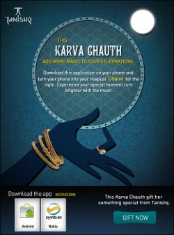 Tanishq launches mobile application for Karva Chauth.