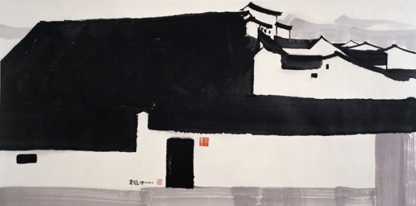A Big Manor, 2001, ink and color on rice paper. (Shanghai Art Museum)