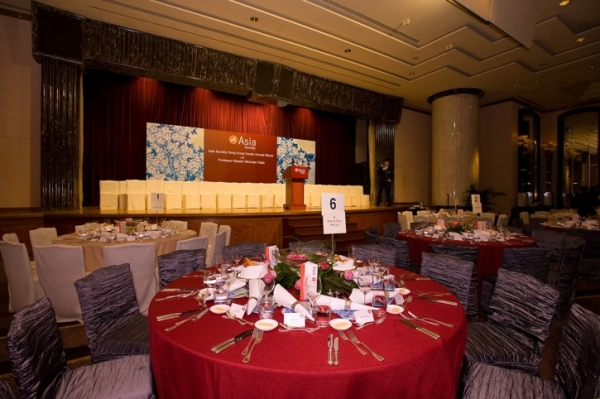 Over 600 guests attended the Hong Kong Center's 2009 Annual Dinner, held at the Grand Hyatt Hotel on September 28, 2009. (Asia Society Hong Kong Center)