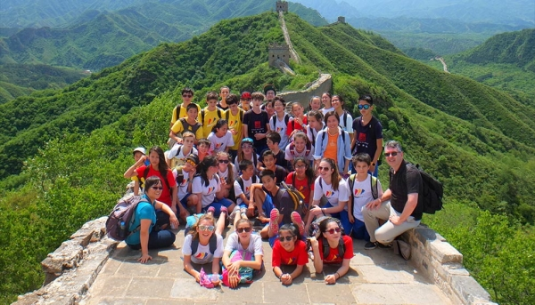 Seventh grade Beijing trip visits the Great Wall. (Chinese American International School)