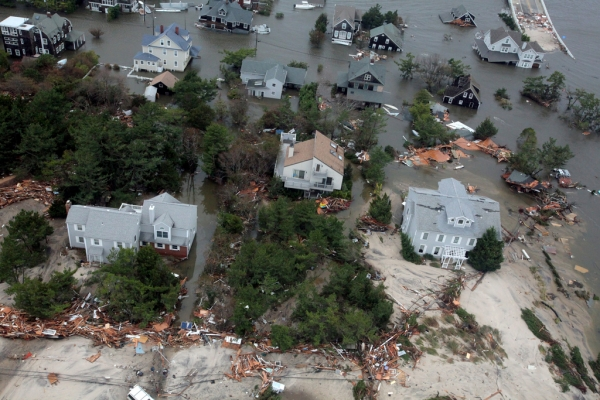Aerial views of the damage caused by Hurricane Sandy to the New Jersey coast taken during a search and rescue mission by 1-150 Assault Helicopter Battalion, New Jersey Army National Guard, October 30, 2012. (DVIDSHUB/Flickr)