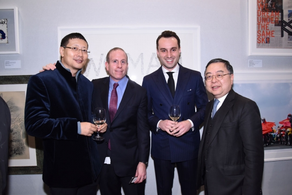 Asia Society Co Chair Ronnie C. Chan (right) and guests at the 2015 reception.