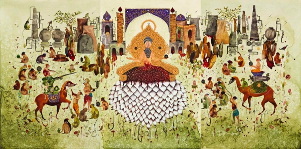'Shiva Ahmadi: Lotus' is on display at Asia Society Museum in New York City through August 3, 2014.
