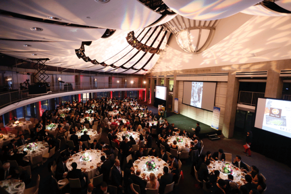 The ballroom during the Asia Society Southern California 2016 Annual Gala at the Skirball Cultural Center on May 22, 2016, in Los Angeles, California. (Photo by Ryan Miller/Capture Imaging)
