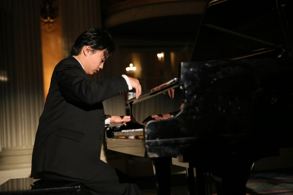 Ray Ushikubo performs during the Asia Society Southern California 2014 Annual Gala held at the Millennium Biltmore Hotel on Monday, May 19, 2014, in Los Angeles, Calif. (Photo by Ryan Miller/Capture Imaging)