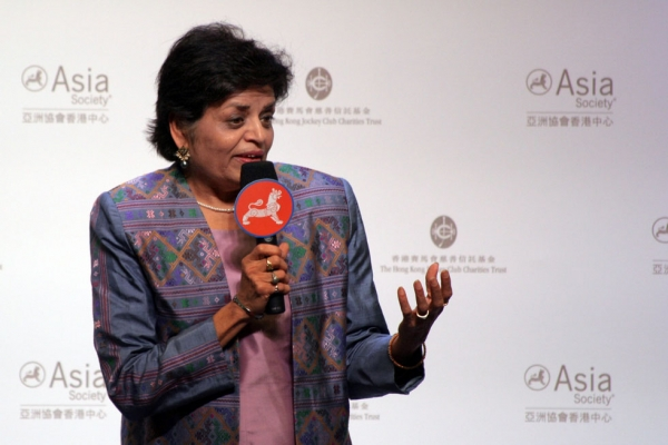 Asia Society President Vishakha Desai speaks during the opening ceremony. (Bill Swersey/Asia Society)