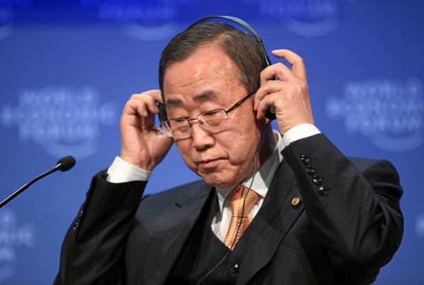 UN Secretary-General Ban Ki-moon in 2009. (World Economic Forum/Flickr)
