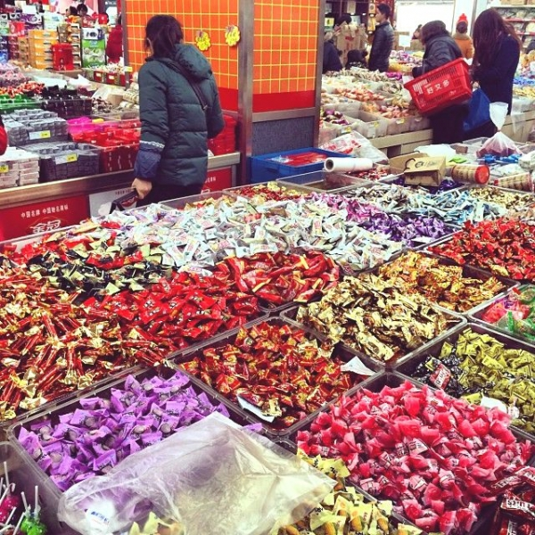 A sea of candy in a supermarket in the Yixian county town. (Sun Yunfan)