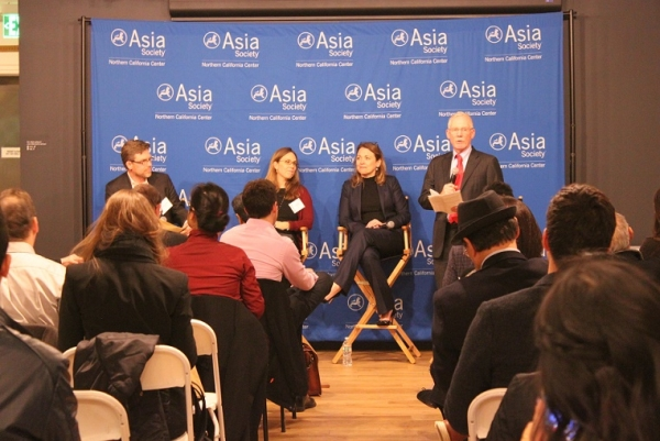 Dr. N. Bruce Pickering moderated the evening's discussion and opened the event. (Asia Society)