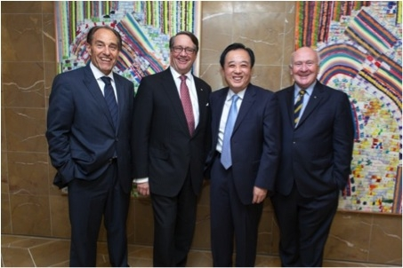 (Photos by Les Dainter. From left): Frank Tudor, ACBC, The Hon Warwick Smith AM, H.E. Mr Chen Yuming, and Jim Harrowell AM