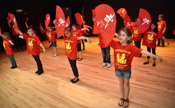 Fan Dance by 1st grade students (Caesar Rodney School District/Dave Chambers)